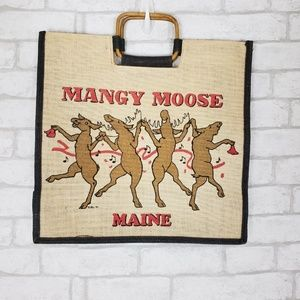 Mangy Moose Maine Graphic Print Tote Bag